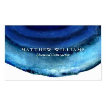 Blue Agate Business Cards