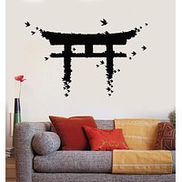 Vinyl Wall Decal Japan Gate Birds Japanese Art Asian Stickers Unique Gift (ig3880)