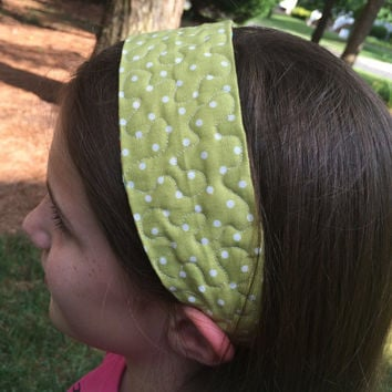 Reversible and adjustable quilted headband