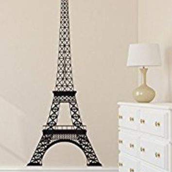 Wall Decal Vinyl Sticker Decals Art Decor Paris Pattern Girls bedroom Romance Mural France The Eiffel Tower City World Modern Fashion(r670)