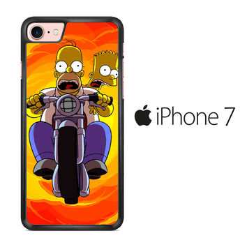 Tv Show The Simpsons Bart And Homer iPhone 7 Case
