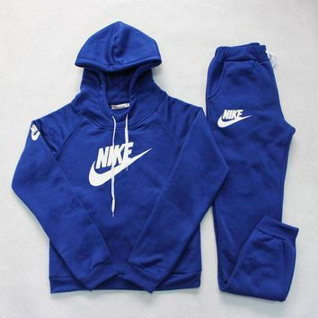 DCCKN6V Nike: Sleeve Shirt Sweater Pants Sweatpants Set Two-Piece Sportswear