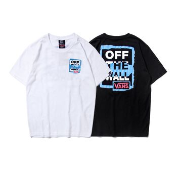 VANS tide brand lovers loose round neck T-shirt sports casual top