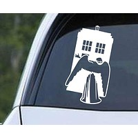 Doctor Who - The Angels Have the Phone Box Die Cut Vinyl Decal Sticker