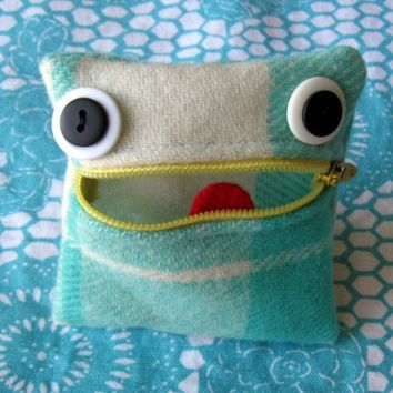 Recycled Monster Coin Purse by Trigo on Etsy