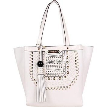 Anouska Braided Intricate Cut-Out Design Tote