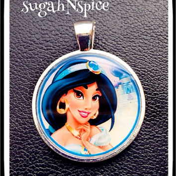 Jasmine necklace pendant Disney Princess Inspired Pendant Charm for Chunky Bubblegum necklaces