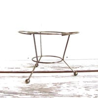 Vintage tripod plant holder stand or base