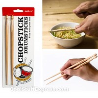 Chopstick Drumsticks Novelty Drumstick-Shaped Dinnerware, Fun & Unique Gifts