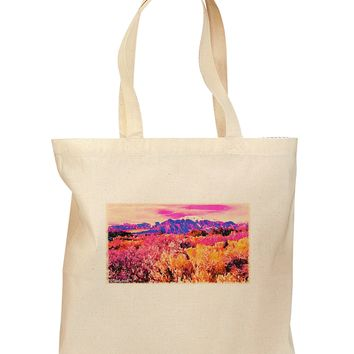Colorful Colorado Mountains Grocery Tote Bag by TooLoud