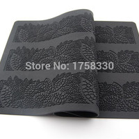 Fee 40*20CM Hot Selling Flower Leaf Silicone cake mold Sugar Silicone Lace Mat Cake Decorating Tools fondant mould