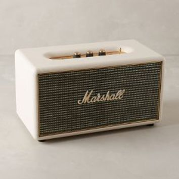 Marshall Stanmore Bluetooth Wireless Speaker by Anthropologie Cream One Size Gifts