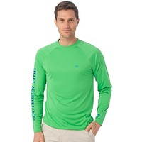 Tide to Trail Long Sleeve Performance Tee Shirt in Island Green by Southern Tide