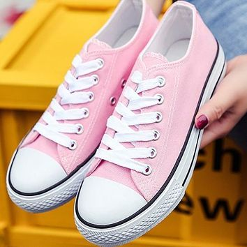 Converse men and women classic fashion casual leisure shoes F Pink