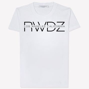 RWDZ Los Angeles California White T-Shirt