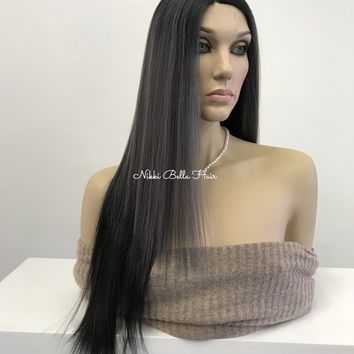 Ash grey lace part wig - Naomi 318 13 ON SALE