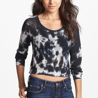 Truehitt Tie Dye Crop Sweater (Juniors) | Nordstrom
