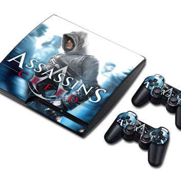 Assassin's creed sticker skin set for ps3 slim