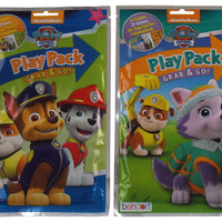 Lot 8 Nickelodeon Paw Patrol Play Packs Grab & Go Coloring Book Crayons Stickers