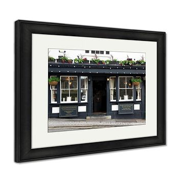 Framed Print, Exterior Shot Of A Classic Old Pub In London UK