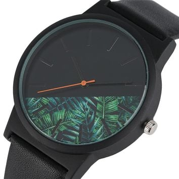 Unique Unisex Watches Tropical Jungle Design Quartz  Men's or  Women's Creative Casual Sport Clock