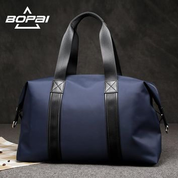 BOPAI Men Travel Duffle Bags Very Good Load Bearing Women Overnight Weekend Travel Shoulder Bags Black Blue Unisex valise