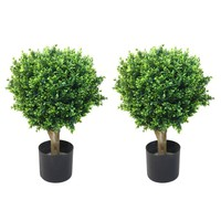 Romano 2-foot Indoor/ Outdoor Hedyotis Topiary Trees (Set of 2) | Overstock.com Shopping - The Best Deals on Silk Plants