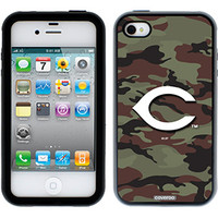"""Cincinnati Reds - Traditional Camo"" Reds design on iPhone 4s / 4 Guardian Case by Coveroo in Black-black"