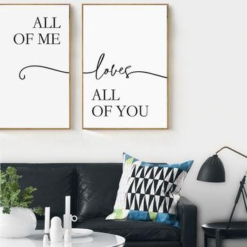 Simple Sweet Lover Phrase A4 A3 Canvas Painting Posters And Prints Living Room Bedroom Wall Art Pictures Home Decoration Mural