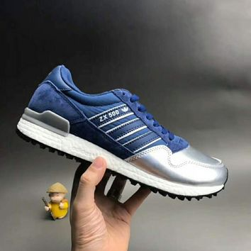 One-nice™ ADIDAS ZX Women Men Running Sport Casual Shoes Sneakers Silver I-CSXY