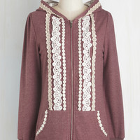 Travel Mid-length Long Sleeve Hoodie Ever So Soften Hoodie in Berry