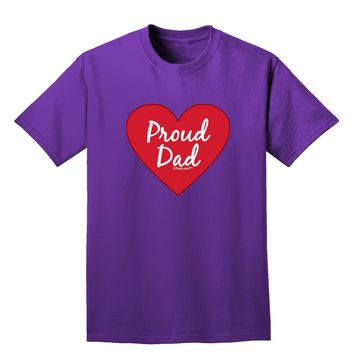 Proud Dad Heart Adult Dark T-Shirt by TooLoud