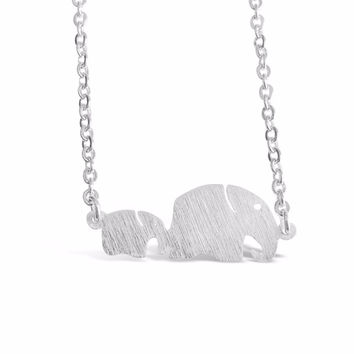 Mom and Children Elephant Necklace