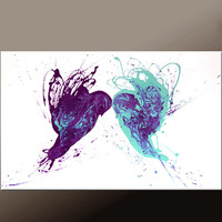 Abstract Art Painting on Canvas 36x24 Original Contemporary Bird art Paintings by Destiny Womack - dWo - Always & Forever