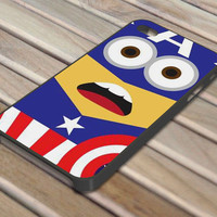 Captain America Minion Avengers iPhone 4/4S iPhone 5 Hard Case
