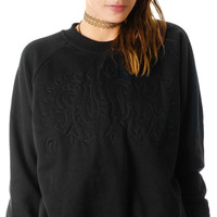 UNIF Braille Sweatshirt Black