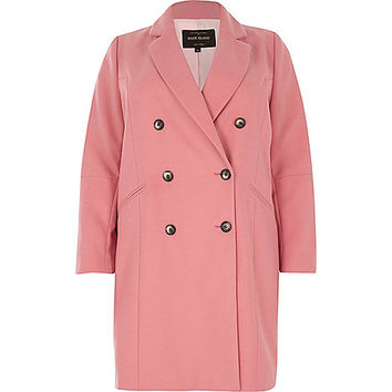 Plus pink double breasted coat - coats - coats / jackets - women