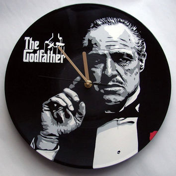 The Godfather vinyl clock