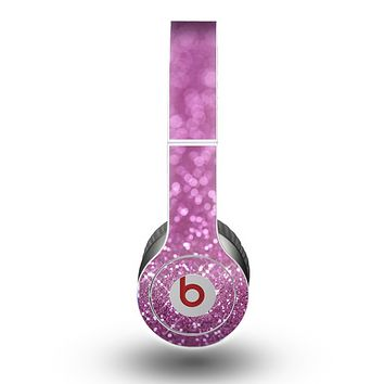 The Pink Unfocused Glimmer Skin for the Beats by Dre Original Solo-Solo HD Headphones