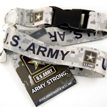 "1 X Official Licensed Products Military Beige ""US ARMY"" Lanyards"