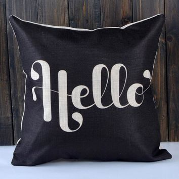 Square Pillow Cover Cushion Case Toss Pillow case Hidden Zipper Closure