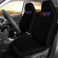 Mustang Horse Ford Black Seat Covers