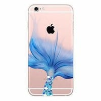 Blue Fin Mermaid Clear Soft Case