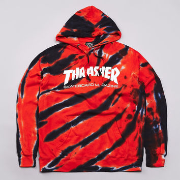 Flatspot - Thrasher Skate Mag Logo Hooded Sweatshirt Tiger Stripe / Orange