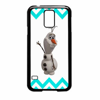 Olaf Disney Frozen Blue Chevron Samsung Galaxy S5 Case