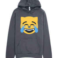Emoji Clothing - Happy Tears Cat Emoji Hoodie