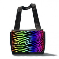 Rainbow Zebra Messenger Bag - Roseanne Jones | roseannejones - Bags & Purses on ArtFire