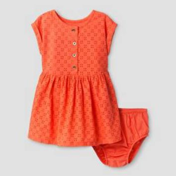 Baby Girls' A Line Dress Cat & Jack™ - Hawaiian Coral