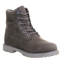 Timberland Premium 6 Boots Grey Mono Nubuck - Ankle Boots