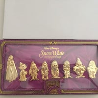 disney imagination gala snow white & the seven dwarfs pin boxed set limited 250
